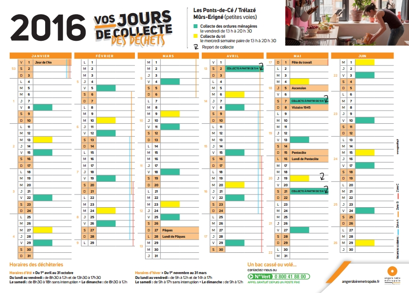 calendrier déchets