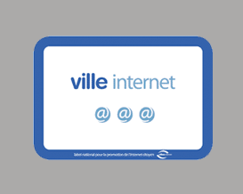 Logo label: ville internet