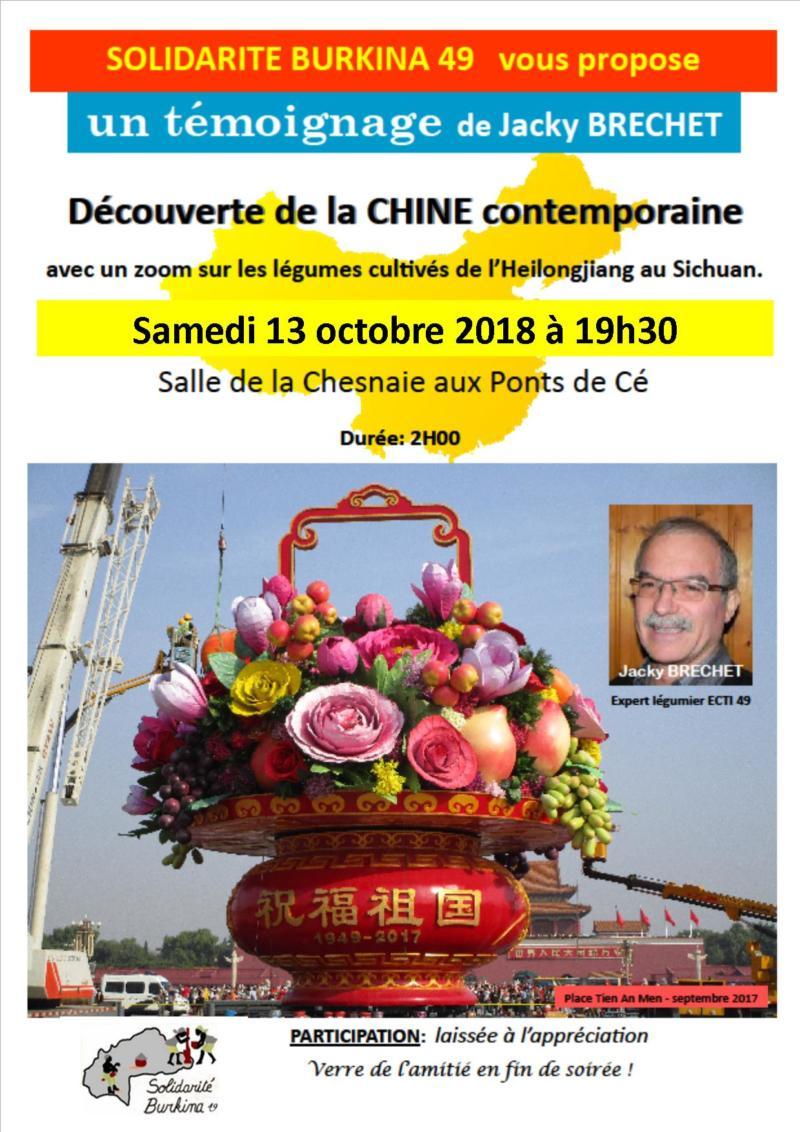 Découverte de la Chine contemporaine. Soirée au profit de solidarité Burkina 49