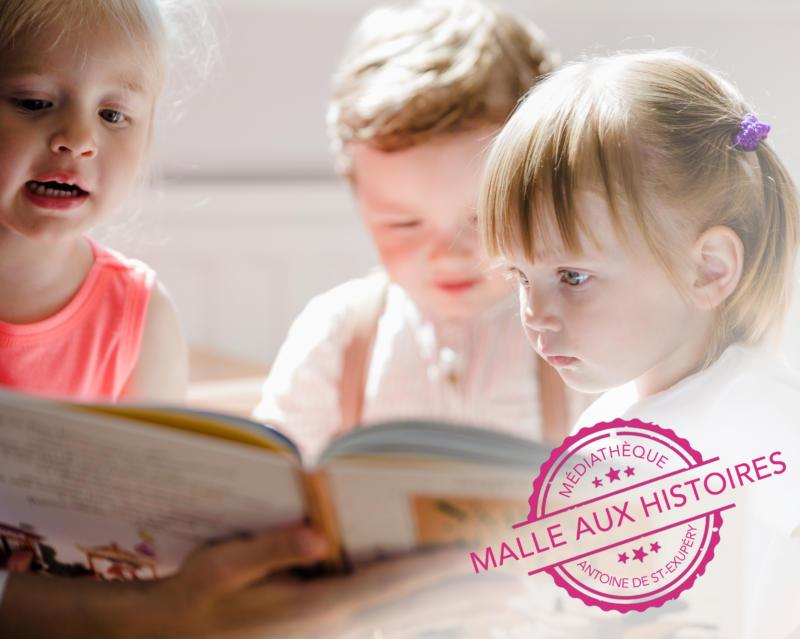 MALLE AUX HISTOIRES DANS LES DOUVES