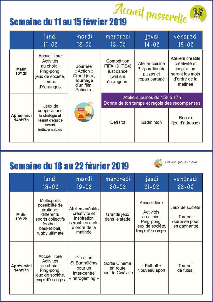 thumbnail of planning accueil passerelle févr 2019