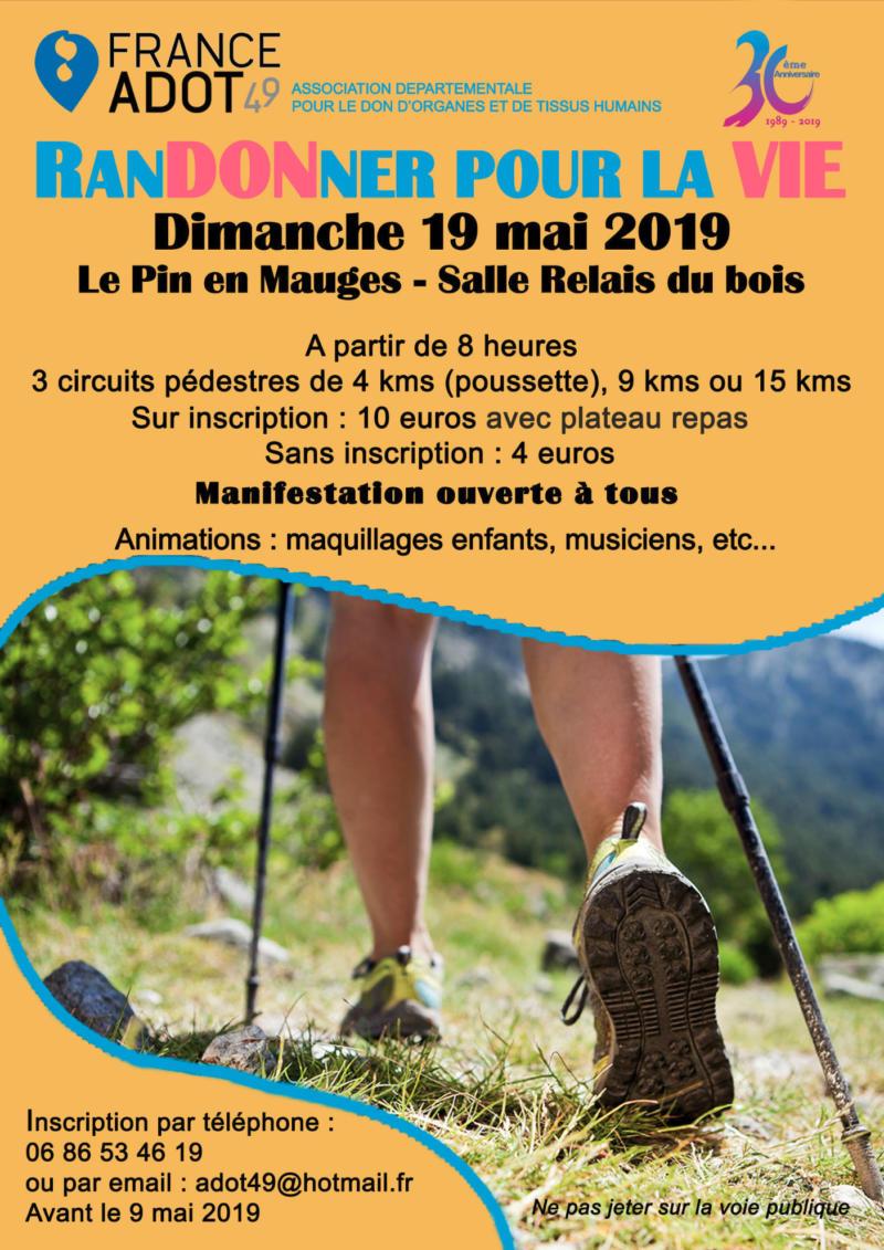 Randonnée pédestre - France Adot 49