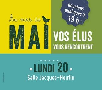 Réunion publique - salle Jacques-Houtin