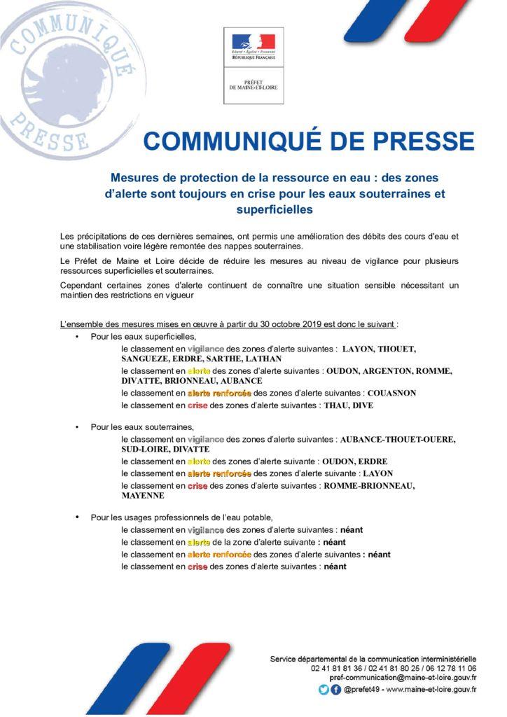 thumbnail of 2019-10-29 COMMUNIQUE DE PRESSE PREFECTURE (1)