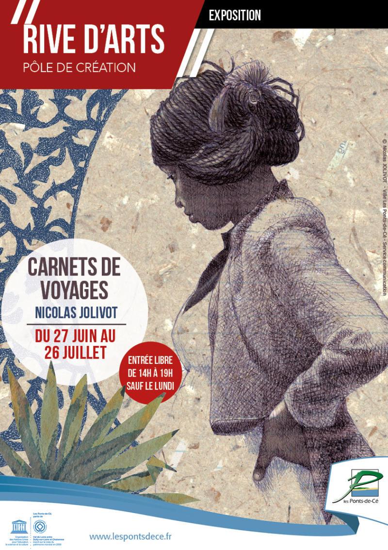 """Exposition """"Carnets de Voyages"""" de Nicolas Jolivot - Rive d'Arts"""