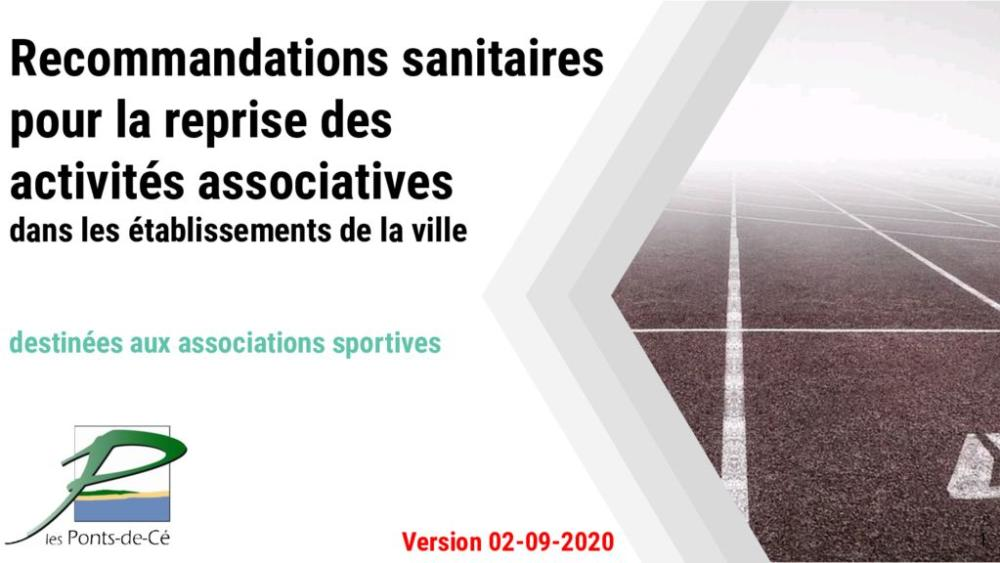 thumbnail of Associations sportives Protocole sanitaire pour la reprise des activitÚs associatives 021092020