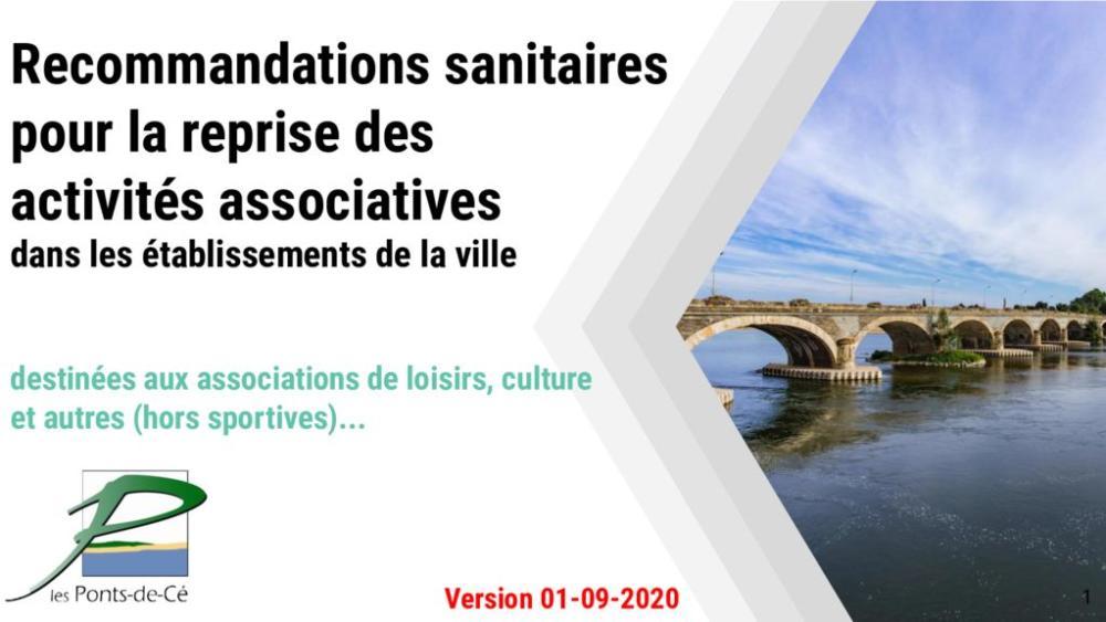 thumbnail of Protocole sanitaire pour la reprise des activitÚs associatives loisirs culture VERSION 01092020