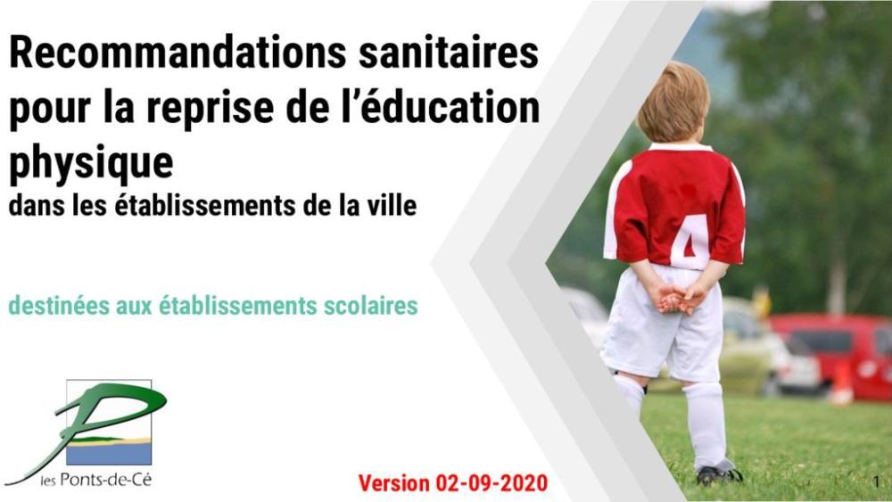 thumbnail of Recommandations sanitaires pour la reprise de lÚducation physique