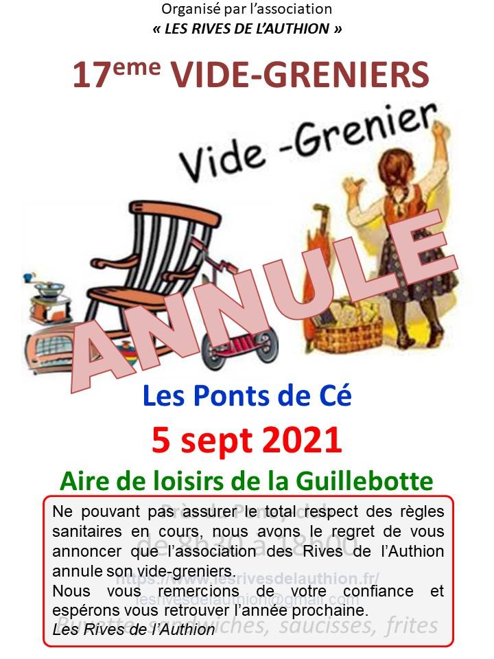 ANNULE - Vide Greniers des Rives de l'Authion à la Guillebotte